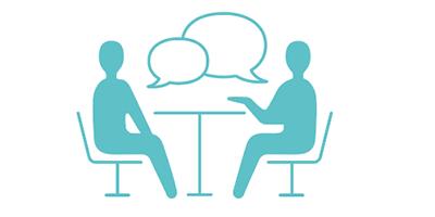座談会で先輩薬剤師と相談ができる。